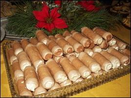 Trubičky s máslovým krémem